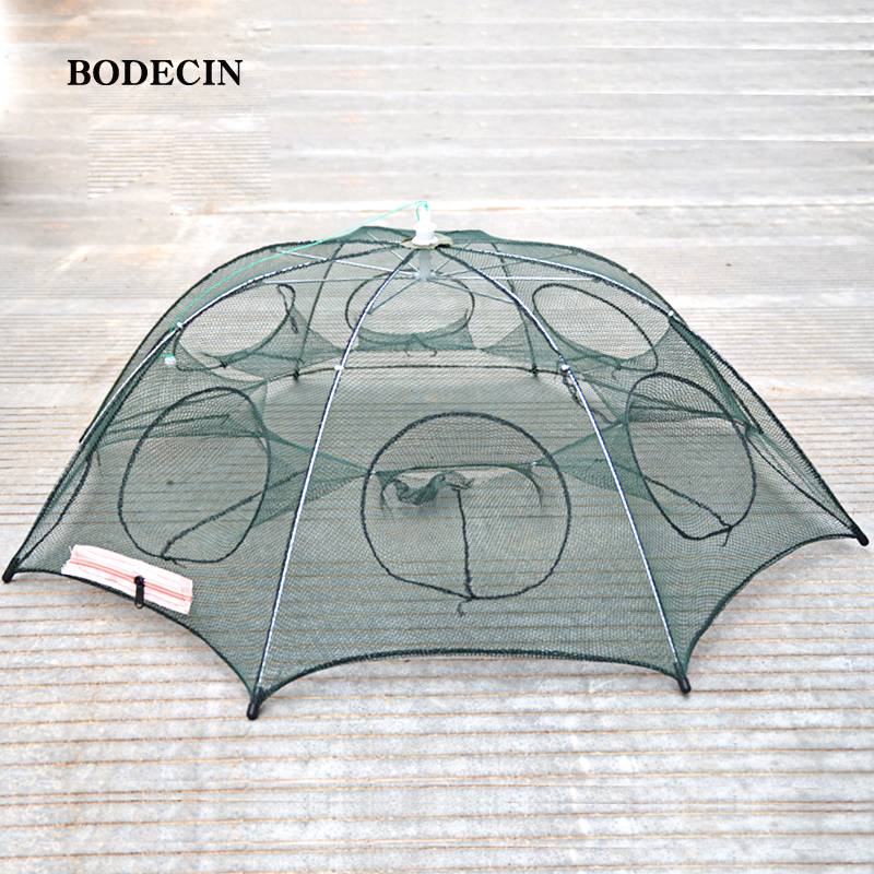 8 Hole Fishing Net Folded Portable Hexagon Fish Network Casting Nets Crayfish Shrimp Catcher Tank Trap China Cages Mesh Cheap (6)