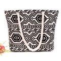 Nova bolsa de Viagem Saco de Praia de algodão mulheres flor impressos sacos de ombro para as meninas Corda Dupla sacos de ombro Das Mulheres sacos Boêmio