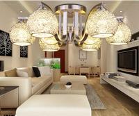 Новый led современные алюминиевые Провода мяч Глобусы потолочный светильник Гостиная серебро