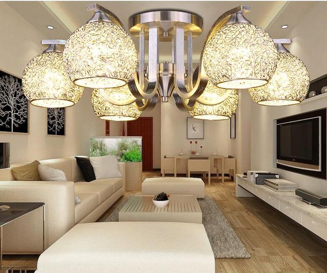 Neue LED Moderne Aluminiumdraht Ball Globus Deckenleuchte Lampe ...