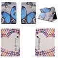 XX Новые бабочка Цветок Стенд PU Кожаные Чехлы Для Samsung Galaxy Tab 9.7 T550 P555C P550 T555C Tablet Крышку Держателя Карты