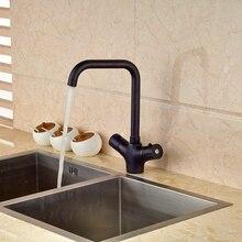 Недавно Термостатический Кухонный Кран Двойной Ручки На Бортике Кухонная Раковина Кран
