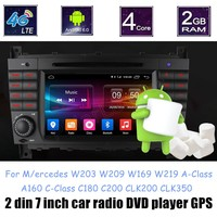 Quad Core Andorid 6.0 Car DVD Player For M/ercedes B ENZ W203 W209 W169 W219 A Class A160 C Class C180 C200 CLK200 CLK350