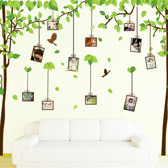 Home Decor Removable Family Tree Wall Stickers Decals Forest Of Memory  Photos Frame Design For Bedroom Part 97
