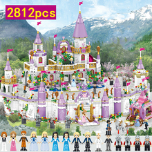 Windsor Castle Dream Fairy Tale funny Princess Friends City Model Building Blocks Girl Education Toys for Children Gift