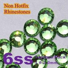 Envío gratis Nail Art Rhinestone Color de peridoto SS6 ( 1.9 – 2.0 mm ) 1440 unids/pack Hotfix no Flatback piedras