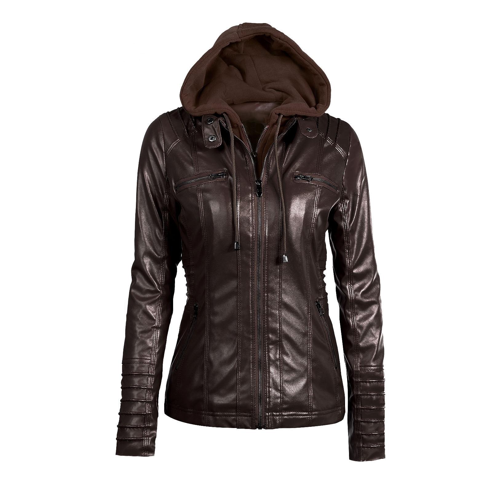 Riverdale Southside Riverdale Serpents black Brown PU Leather Jacket Women Riverdale Serpents Streetwear Leather Brand Coat 15