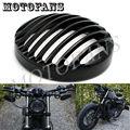 Anodizado preto Farol Grill Capa Para Harley Sportster XL883 XL1200 2004 2005 2006 2007 2008 2009 2010 2011 2012 2013 2014