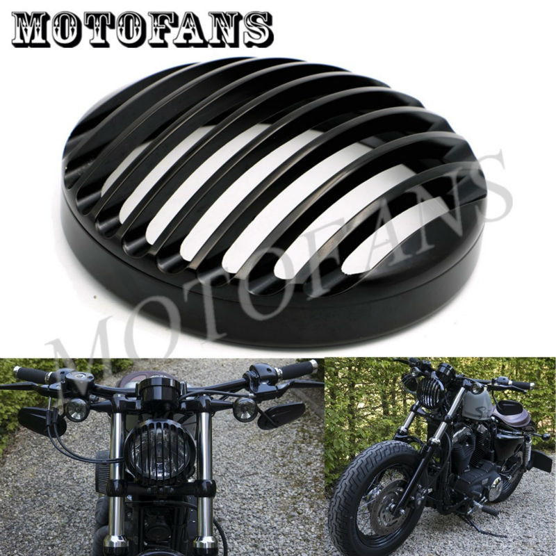 Black Anodized Headlight Grill Cover For Harley Sportster XL883 XL1200 2004 2005 2006 2007 2008 2009 2010 2011 2012 2013 2014 car rear trunk security shield shade cargo cover for nissan qashqai 2008 2009 2010 2011 2012 2013 black beige