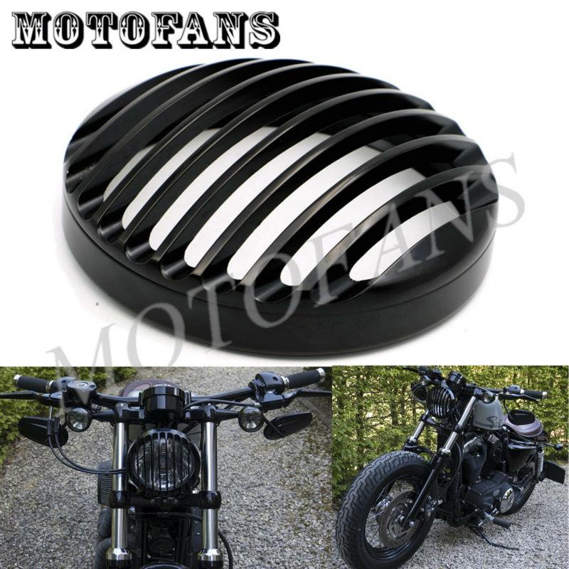 Prix pour Noir Anodisé Phare Grill Couverture Pour Harley Sportster XL883 XL1200 2004 2005 2006 2007 2008 2009 2010 2011 2012 2013 2014
