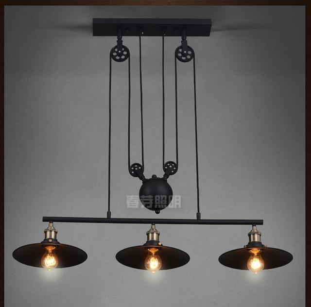 Nordic industrial pendant lamp lights rh loft pulley adjustable nordic industrial pendant lamp lights rh loft pulley adjustable retractable coffee hanglamp e27 light fixtures modern aloadofball Image collections