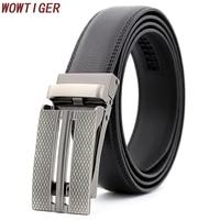 WOWTIGER Men S Fashion Designer Ratchet Cowhide Genuine Leather Belt For Men Jeans Luxury Men Belts