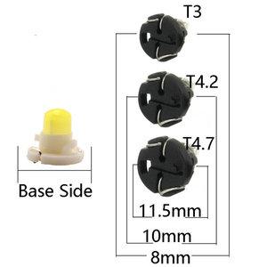 Image 4 - أضواء لوحة القيادة للسيارة LED ، T3 F8 1SMD ، لمبات إسفين COB ، مصباح مجموعة الأدوات ، 12 فولت ، مؤشر تحذير ، الإضاءة الداخلية ، 100 قطعة