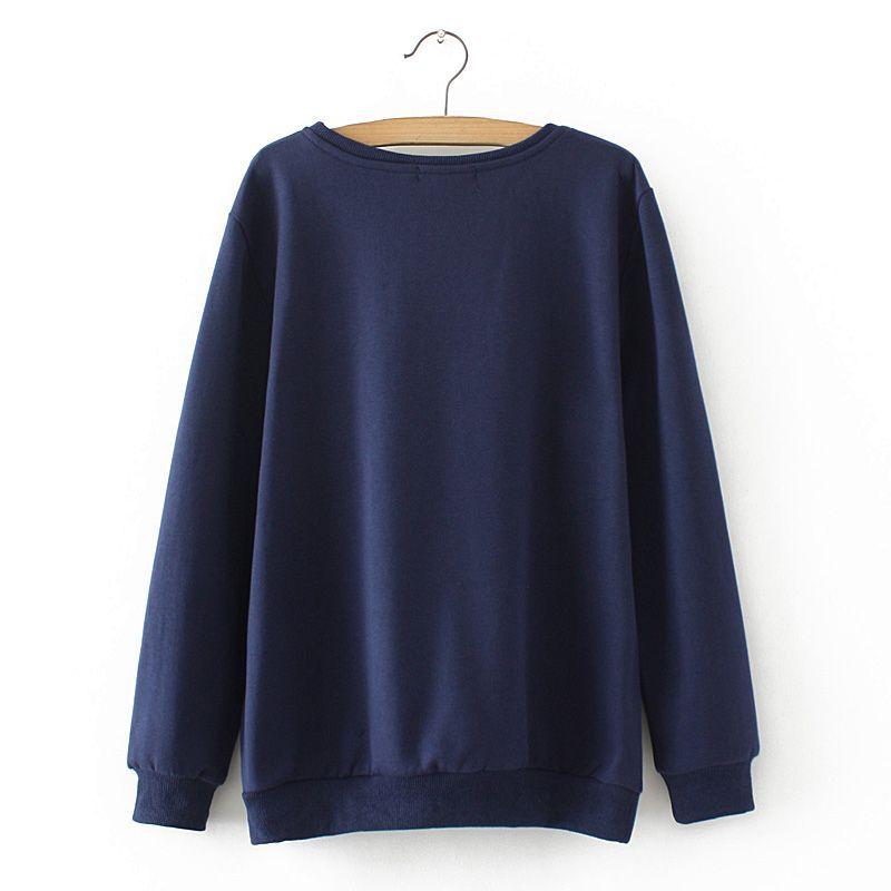 2018 Plus Size Spring Women Hoodies Owl Print Loose Long Sleeve Women Sweatshirts And Pullovers Female Oversized Tops Coat