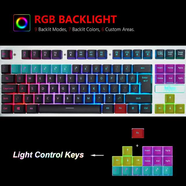 RedThunder K900 RGB Gaming Keyboard Mechanical Similar Russian Spanish French Multilingual Metal Cover for Tablet Desktop 3