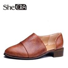 She Era/кожаные туфли-оксфорды Женские туфли-лодочки 2017 Модная женская обувь повседневные мокасины, Дамская обувь sapatilhas Zapatos muje