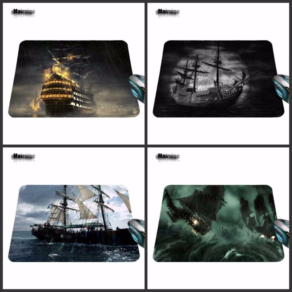 Mairuige Captain Jack Black Ship 2017 Hot Sell Print Anti-slip Durable New Arrival Computer Gaming Mouse Pad Gamer Play Mats