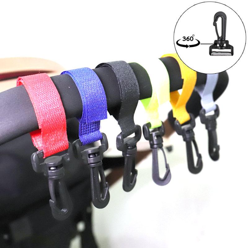 3pcs/Lot Stroller Hooks Wheelchair Stroller Pram Carriage Bag Hanger Hook Baby Strollers Shopping Bag Clip Stroller Accessories