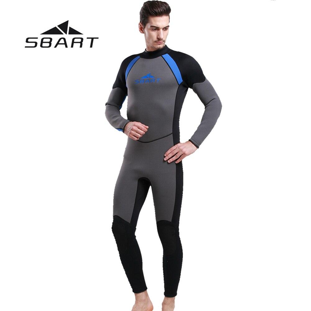 d9687a7eec SBART 3mm Neoprene Men Wetsuit One Pieces Suit Scuba Diving Surfing  Snorkeling Swimwear Fishing Spearfishing Full. sku  32679942280