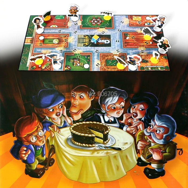 Junior gioco Cluedo che mangiato il torta al cioccolato Classico Famiglia Giocattolo Educativo Del Partito di Gioco per i giocatori 2-6