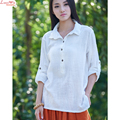 turn-down collar roll-up sleeve simple linen t-shirts handsome pullover tops camisole factory wholesale