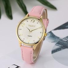2017 New Arrive Luxury Gold Leather Strap Bracelet Watch Women Ladies Casual Quartz Watch Business Watch Vintage Dress Watch
