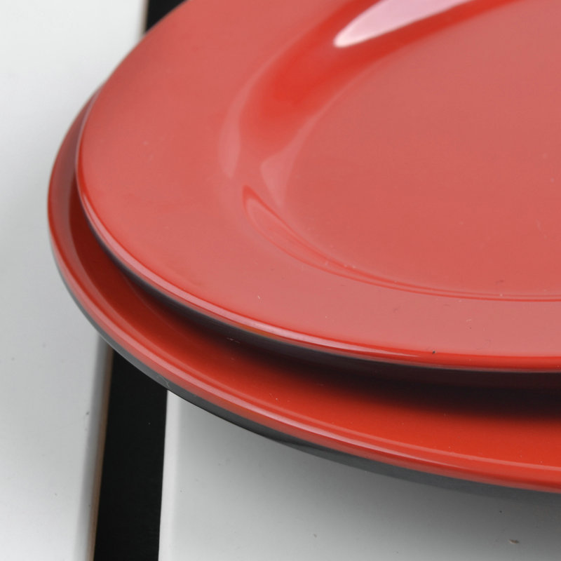 10 INCH New Japanese Style Black Red Plastic Melamine Plates Cooking Dishes Flat Plate Fish Oval Plastic Tray Western Dinnerware-in Disposable Plates from ... & 10 INCH New Japanese Style Black Red Plastic Melamine Plates Cooking ...