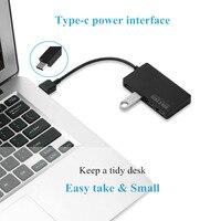 נייד מחברת C HUB 4 Port USB 3.0 HUB USB וגם הסלסילה העמוס עם USB DC Power Port הגבוהה מהיר סוג C ספליטר עבור אבזרי מחברת מחשב נייד USB-C 3.1 (3)