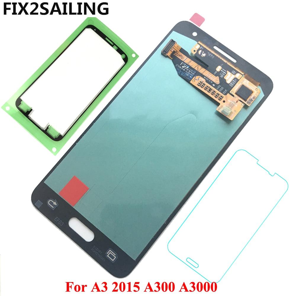 Affichage A3 Pour Samsung Galaxy A3 2015 A300 A3000 Super AMOLED Écran lcd 100% Testé Travail Écran Tactile Assemblée