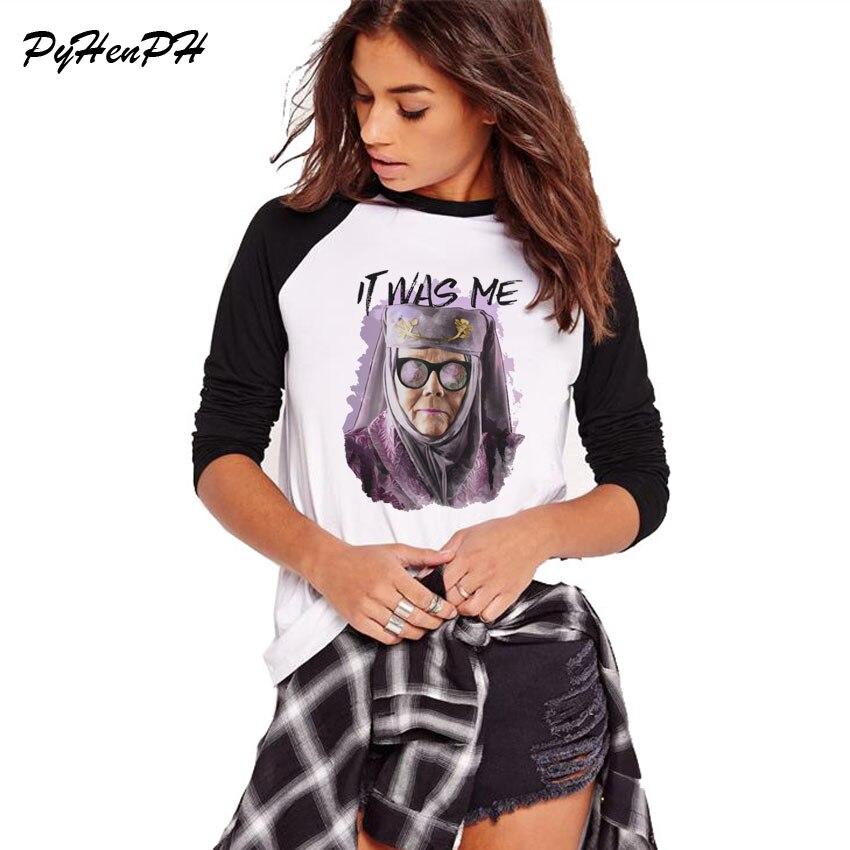 2019 Long Sleeve T Shirt Women Game Of Thrones T-shirt It Was Me Print Tee Shirt Homme Spring Autumn Cotton Tshirt Femme