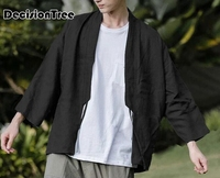 2019 summer japanese kimono jackets streetwear japan style casual printed coats men harajuku open stitch outwear