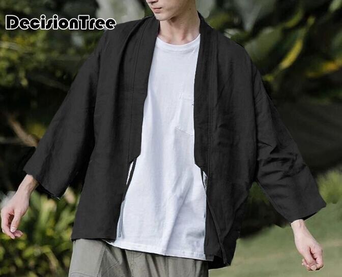 2019 Zomer Japanse Kimono Jassen Streetwear Japan Stijl Casual Gedrukt Jassen Mannen Harajuku Open Stitch Uitloper