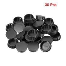Uxcell Black 30pcs 16mm 19mm 20.1mm 30mm Mounting Dia. Round Nylon Snap Locking Universal Panel Hole Cover Hold Plugs