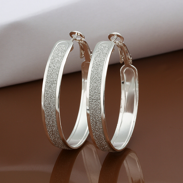 Circles Vintage Hoop earrings 925 Solid silver Accessary e465 gift box Free Fashion New Jewelry Brincos de Prata