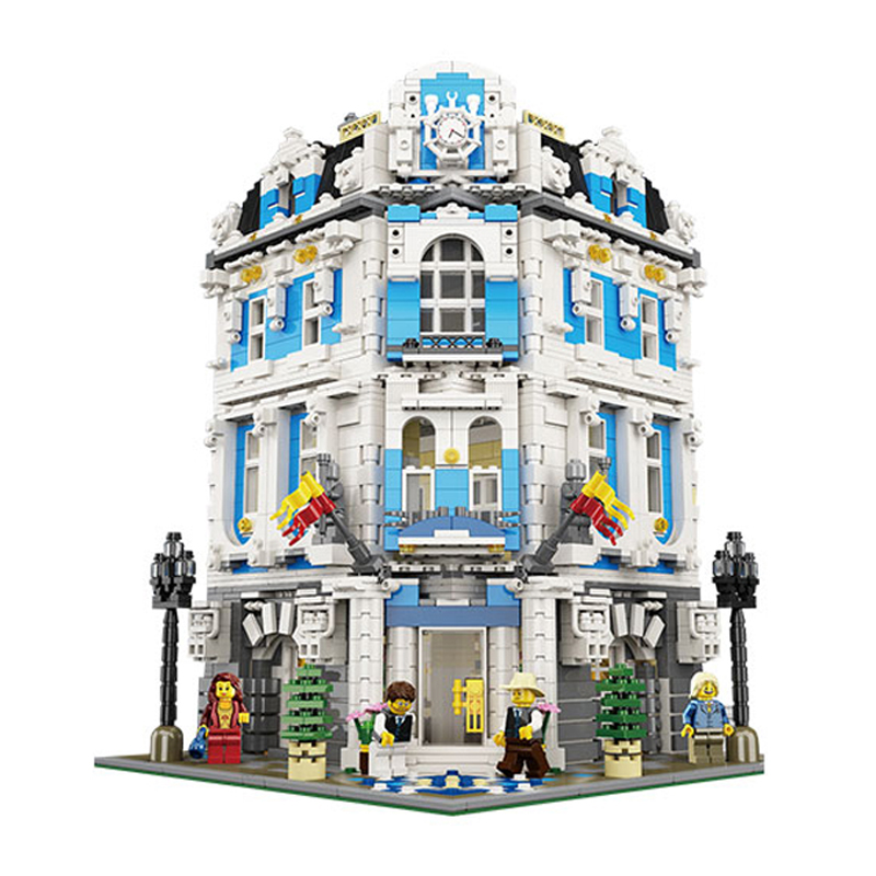Lepin 15018 MOC City Series The Sunshine Hotel Set Building Blocks Bricks Educational Toys laete 15018