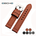 Special Offer Handmade Genuine Leather Watchband Watch Straps  22mm 24mm 26mm With Silver&Black Buckles
