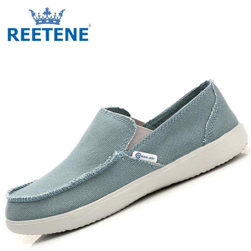 Fashion Slip Casual Men Shoes,Men Canvas Shoes,Breathable Loafers Shoes,2016 New Mocasines Plus Size 45 - REETENE store