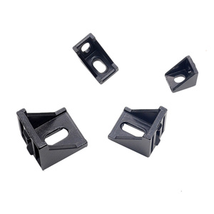 5pcs/10pcs 2020 Corner Bracket Fitting Black Angle Aluminum Connector 2028 3030 4040 for Industrial Aluminum Profile