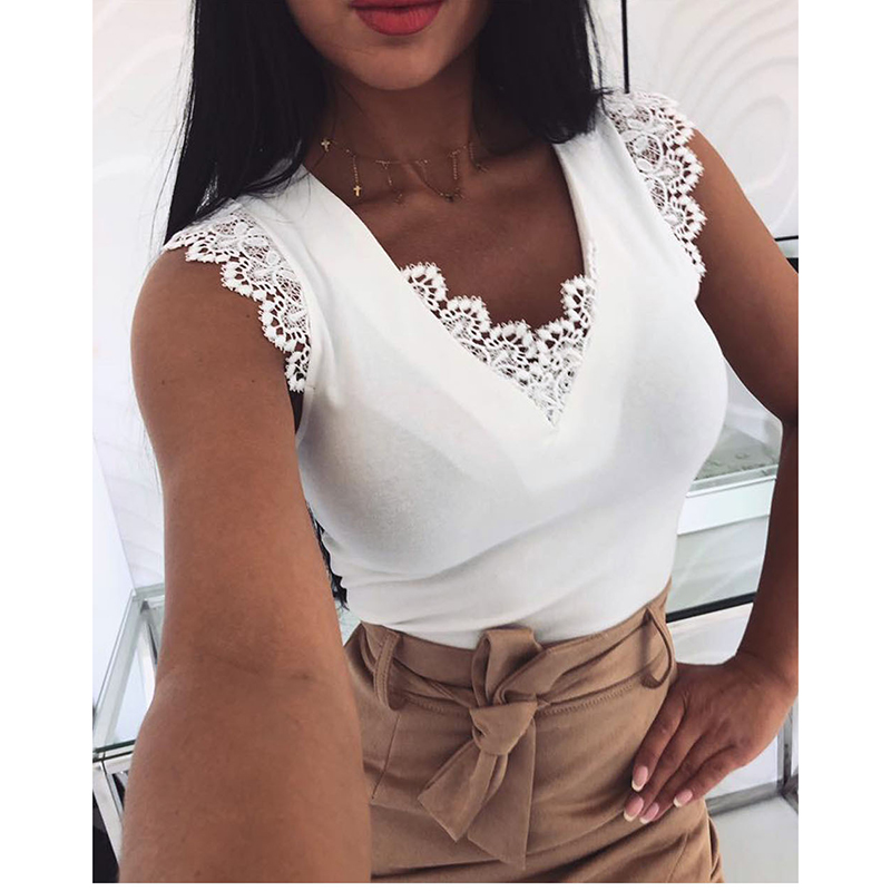 New Fashion Women Sleeveless  Shirt Casual Lace Blouse Loose Tops Shirt Womens Ladies Backless Lace Up Blouse Summer Top SJ2257V