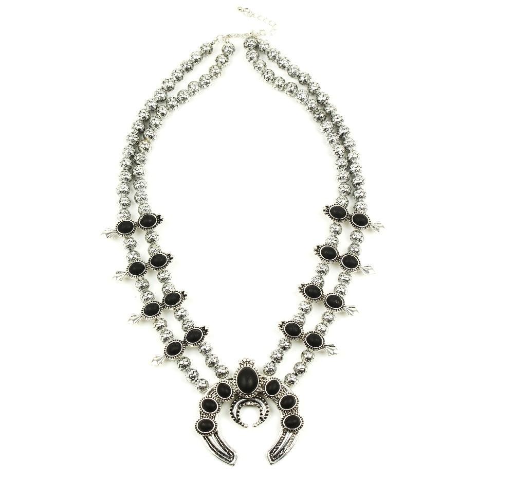 Индивидуальный дизайн Самые продаваемые тыквы цветок цепочки и ожерелья, Винтаж Серебряный Сквош ожерелье цветок N2178