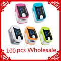 100 Pcs Wholesale  OLED Fingertip Pulse Oximeter With Audio Alarm & Pulse Sound - Spo2 Monitor Finger Puls Oximeter