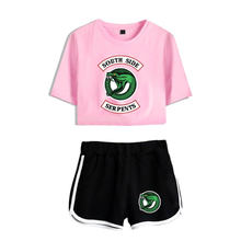 2 Piece Tracksuit Women 2018 New Hot Riverdale Southside Serpents Clothes Female Casual Crop Top and Pants Summer Outfits Set(China)