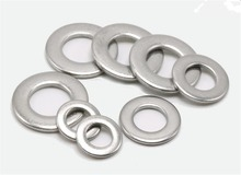 цена на 100pcs M1.6 M2 M2.5 M3 M4 M5 M6 M8 M10 M12 Stainless Steel Flat Washer Plain Washer Insulation Gasket