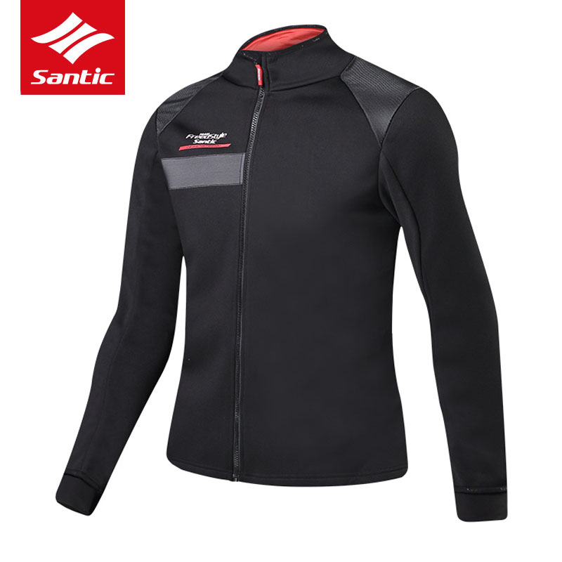 Santic Men Cycling Jacket Winter Thermal Fleece Mountain Road Bike Jacket Windproof Warm Bicycle Jacket Clothing Ropa Ciclismo цена