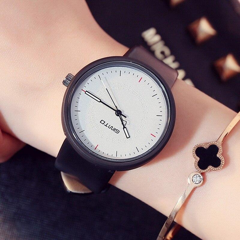 Nuevo gimto reloj creativo mujer cuarzo moda casual mujeres relojes mujer señoras vintage reloj montre Femme Relogio