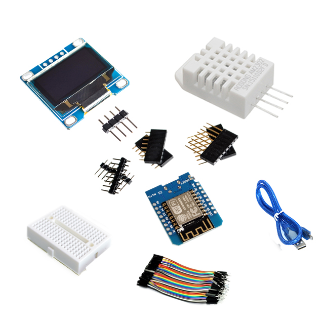 ESP8266 Weather Station DIY Kit IOT Starter Kits for Arduino with 0.96 OLED Display D1 MINI Wireless WIFI Bluetooth Module
