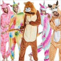 17f8218a5e4b05 New Unicorn Kigurumi Onesie Adult Women Animal Pajamas Girl Warm Soft  Licorne Sleepwear Winter Jumpsuit Pijama