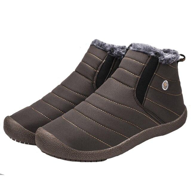 Lớn Kích Thước của Nam Giới 2018 Vài Mùa Đông Tuyết Boots Non-slip Ấm Lót sang trọng Giày Ấm Giản Dị Giày Người Đàn Ông của Giày Giày của Nam Giới 35-48