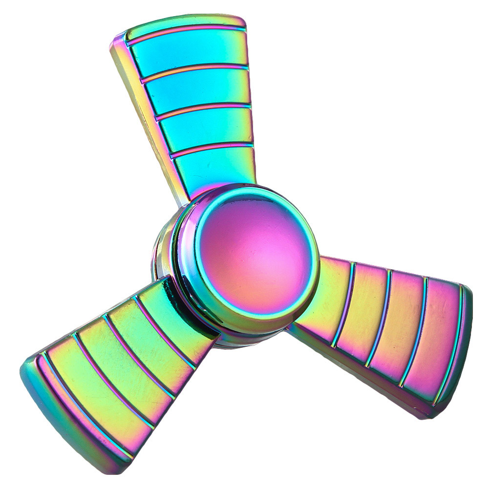 Spinner Fidget Metal Colourful Spinner Hand Stress Cube Focus Keep Kid Toy And ADHD EDC Anti
