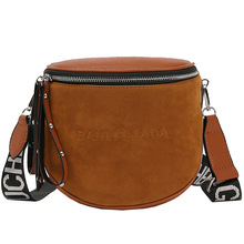 SHUNVBASHA New Womens Messenger Bag Pu Leather Shoulder Fashion Brand Ladies Semi-circle Saddle Handbag
